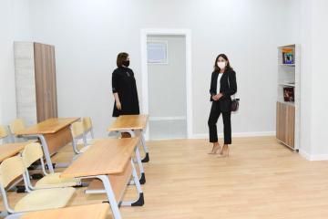 Birinci vitse-prezident Mehriban Əliyeva Bülbülə qəsəbəsindəki Uşaq İncəsənət Məktəbinin yeni binasının açılışında iştirak edib