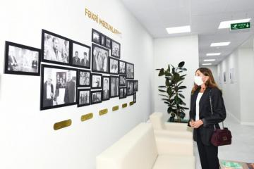 First Vice-President Mehriban Aliyeva attended opening of new building of Children's Art School in Bulbula settlement