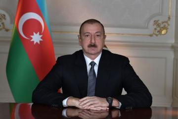Президент Ильхам Алиев поздравил председателя Китайской Народной Республики