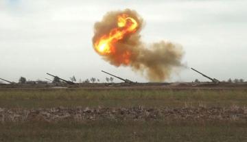 Ağdərə istiqamətində düşmənin artilleriya bölmələrinə zərbələr endirilib - [color=red]VİDEO[/color]