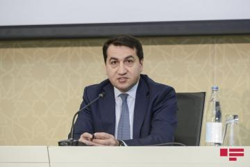 "Hikmet Hajiyev: ""Two Armenian Su-25 planes crashed into a mountain yesterday and blew up"""