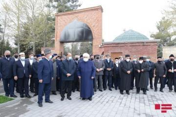 Начался визит председателя УМК Аллахшукюра Пашазаде и руководителей религиозных конфессий в Барду и Агдам