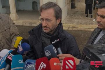 Фахреттин Алтун обратился к ЮНЕСКО в связи с разрушенными памятниками на освобожденных землях