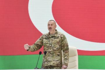 Президент Азербайджана: Мы на поле боя отомстили врагу за шехидов