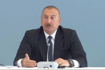 Azerbaijani president: The destruction on the territory which we liberated are beyond our worst expectation