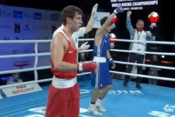 Azerbaijani boxer defeats his Armenian rival