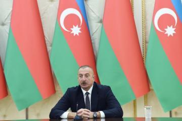 Ильхам Алиев выразил надежду, что Беларусь присоединится к проектам по восстановлению Карабаха