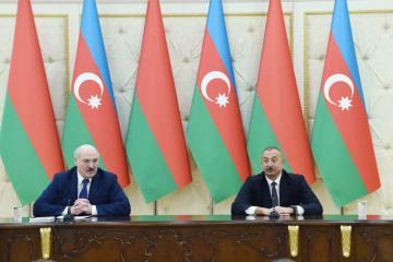 Президенты Азербайджана и Беларуси выступили с заявлениями для прессы - [color=red]ОБНОВЛЕНО[/color]