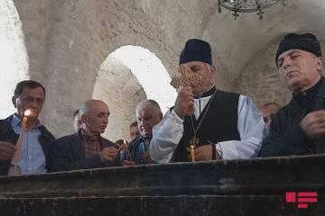 Alban-Udi xristian dini icmasının üzvləri Tuğda qədim alban məbədini ziyarət edib