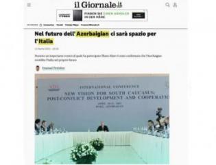Мнения президента Ильхама Алиева опубликованы в итальянской прессе