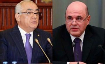 Состоялся телефонный разговор между премьер-министром Али Асадовым и председателем правительства РФ Михаилом Мишустиным
