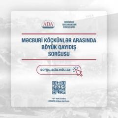 Завершился онлайн-опрос среди вынужденных переселенцев в связи с возвращением в Карабах