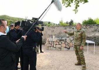 """Prezident: """"Ermənistan dövləti bizə qarşı mədəni soyqırımı da törədib"""""""