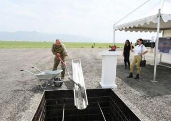 В Зангилане заложен фундамент международного аэропорта