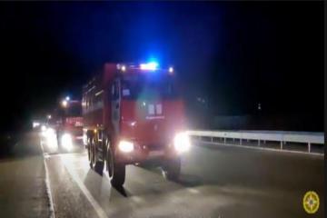 Очередная группа МЧС Азербайджана продвигается к Турции по территории Грузии -[color=red] ВИДЕО[/color]