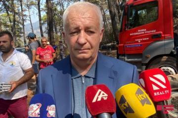 Этибар Мирзоев: Мы потушили два крупных пожара в Денизли