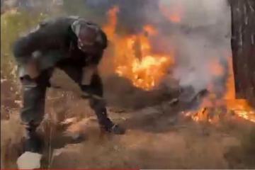 """Азербайджанские пожарные продолжают меры по тушению пожаров в Турции-<span class=""""red_color"""">ВИДЕО</span>"""