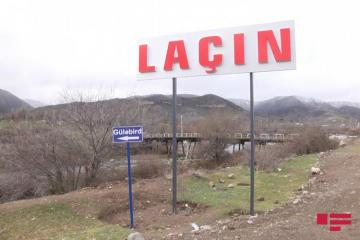 Round road being constructed to Lachin