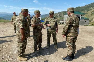 Azerbaijani Defense Minister inspected the training range being constructed in the Kalbajar region