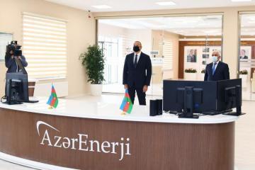 """Prezident İlham Əliyev """"Abşeron"""" yarımstansiyasının açılışında iştirak edib"""
