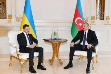 Azerbaijani President Ilham Aliyev sends congratulatory letter to Ukrainian President Zelensky