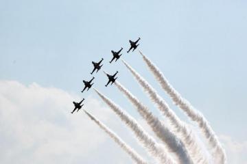 Азербайджанские военные летчики выполнили очередной полет на фестивале «Технофест-2021» - [color=red]ФОТО[/color]
