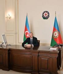 Prezident İlham Əliyev Minatəmizləmə Agentliyinin İdarə Heyətinin sədrini videoformatda qəbul edib