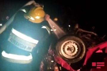 В ДТП в Агдаше погибли 3, пострадали 4 человека – [color=red]ОБНОВЛЕНО-2 – ФОТО – ВИДЕО[/color]