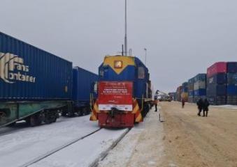 Первый грузовой поезд, отправленный из Турции в Россию по БТК, достиг пункта назначения - [color=red]ФОТО[/color]