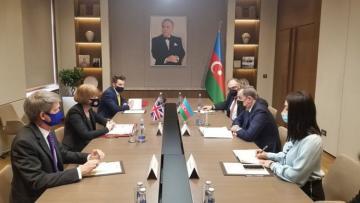 Глава МИД Азербайджана встретился с госминистром Великобритании