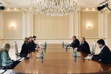 Azərbaycan Prezidenti Britaniyanın dövlət nazirini qəbul edib