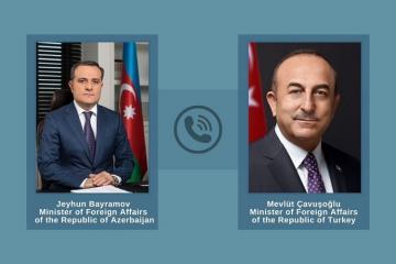 Ceyhun Bayramov dənizçilərin azad edilməsinə görə Mövlud Çavuşoğlunu təbrik edib