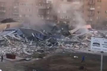 Во Владикавказе после взрыва обрушился торговый центр