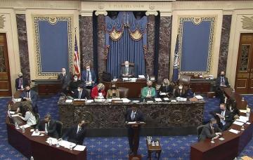 Сенат Конгресса США оправдал Трампа в рамках процедуры импичмента