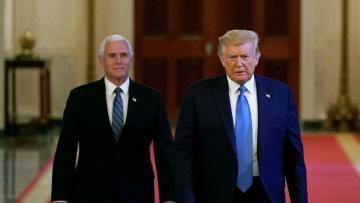 Пенс отказался участвовать в мероприятии, где будет выступать Трамп