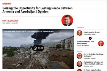 В популярном печатном органе США рассказали об армяно-азербайджанских отношениях после Отечественной войны