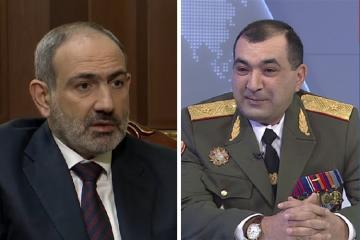 """Paşinyanın açıqlamasını """"qeyri-ciddi"""" hesab edən erməni general vəzifədən qovulub"""