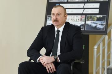 Ильхам Алиев: На сегодняшний день около 9200 семей шехидов, инвалидов войны обеспечены квартирами