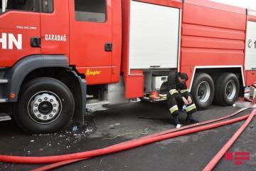 В Абшеронском районе сгорел автобус