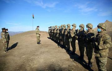 Министр обороны проверил состояние обеспечения и уровень боевой подготовки подразделений, дислоцированных на освобожденных территориях