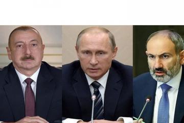 Sabah Moskvada Azərbaycan, Rusiya və Ermənistan liderlərinin görüşü keçiriləcək