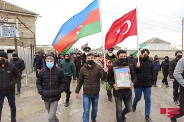 Ставший шехидом солдат азербайджанской армии похоронен в Хачмазе - [color=red]ФОТО[/color]