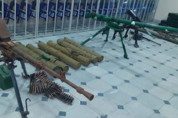Weapon and ammunition left by Armenian armed units found in Sugovushan