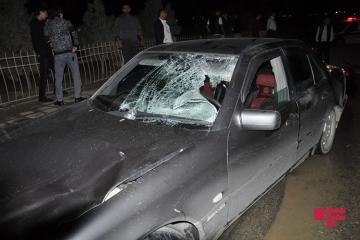Sabirabadda piyadanı avtomobillə vuran sürücü ərazidən yayınıb