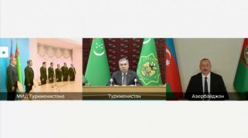 Президент Туркменистана: Мы приступаем к большому, важному и очень перспективному совместному проекту с Азербайджаном