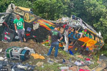 21 человек погиб в ДТП с автобусом в Бразилии