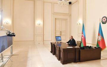 Prezident İlham Əliyev Rəşad Nəbiyevi nazir təyin olunması ilə əlaqədar videoformatda qəbul edib
