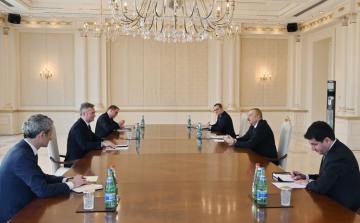 Президент Ильхам Алиев принял госсекретаря МИД Франции