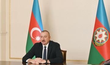 Президент Ильхам Алиев принял Айдына Керимова в видеоформате в связи с его назначением на пост спецпредставителя Президента в Шуше