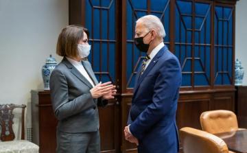 Байден встретился с белорусским оппозиционером Светланой Тихановской